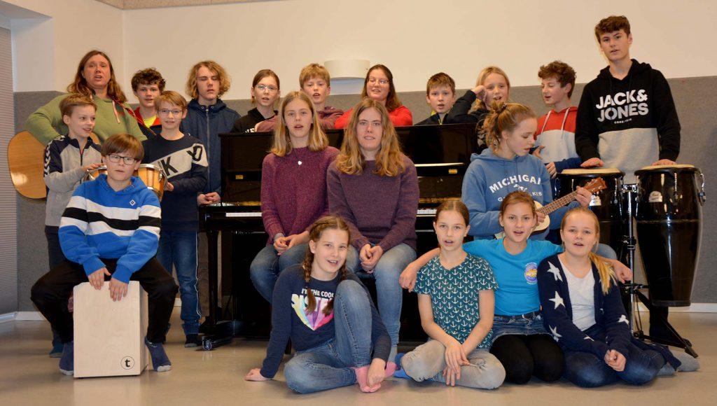 Der Jugendchor der Grundhofer Gesangvereins